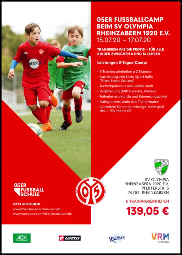 SV Olympia Rheinzabern Fussballcamp 2020