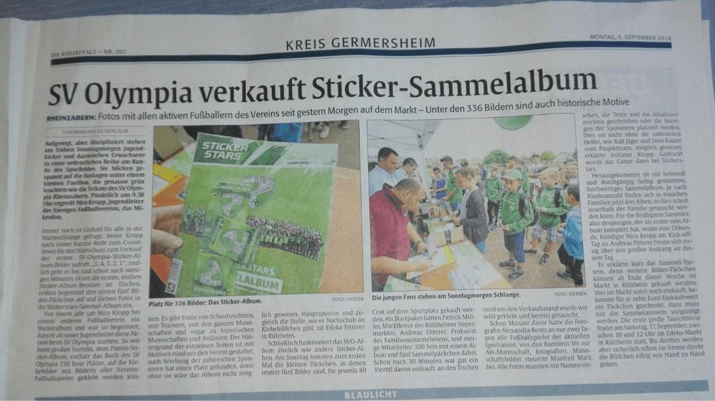 SV Olympia Rheinzabern Rheinpfalz Artikel