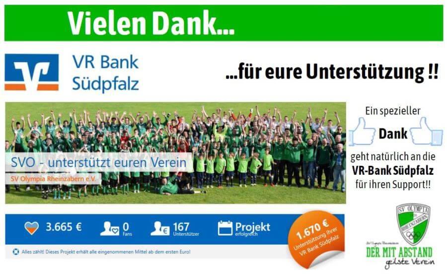SV Olympia Rheinzabern - VR Bank Danke