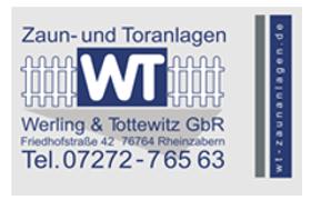 SV Olympia Rheinzabern - Sponsoren Werling Tottewitz