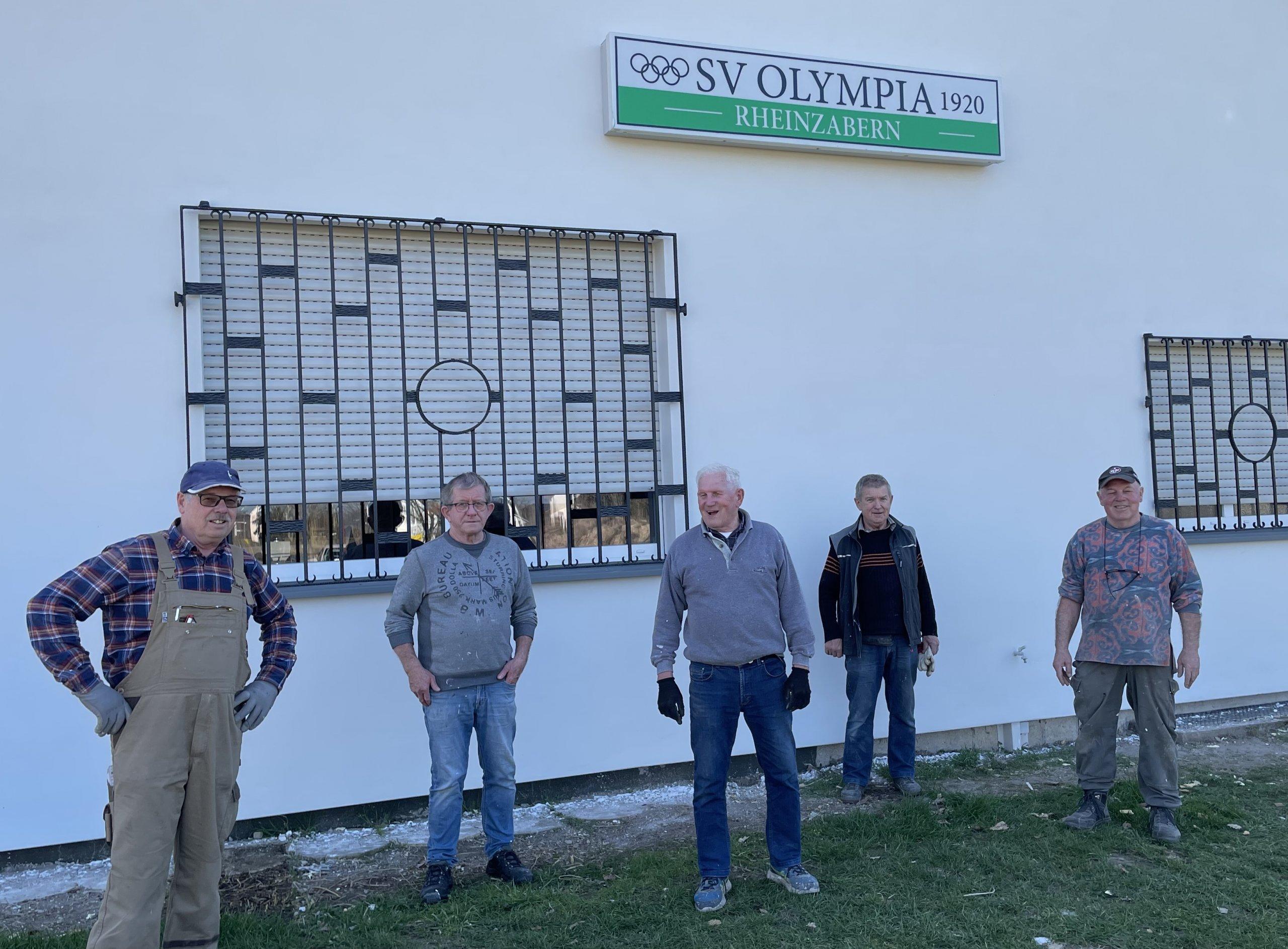 Neues Clubhaus des SVO kurz vor der Fertigstellung