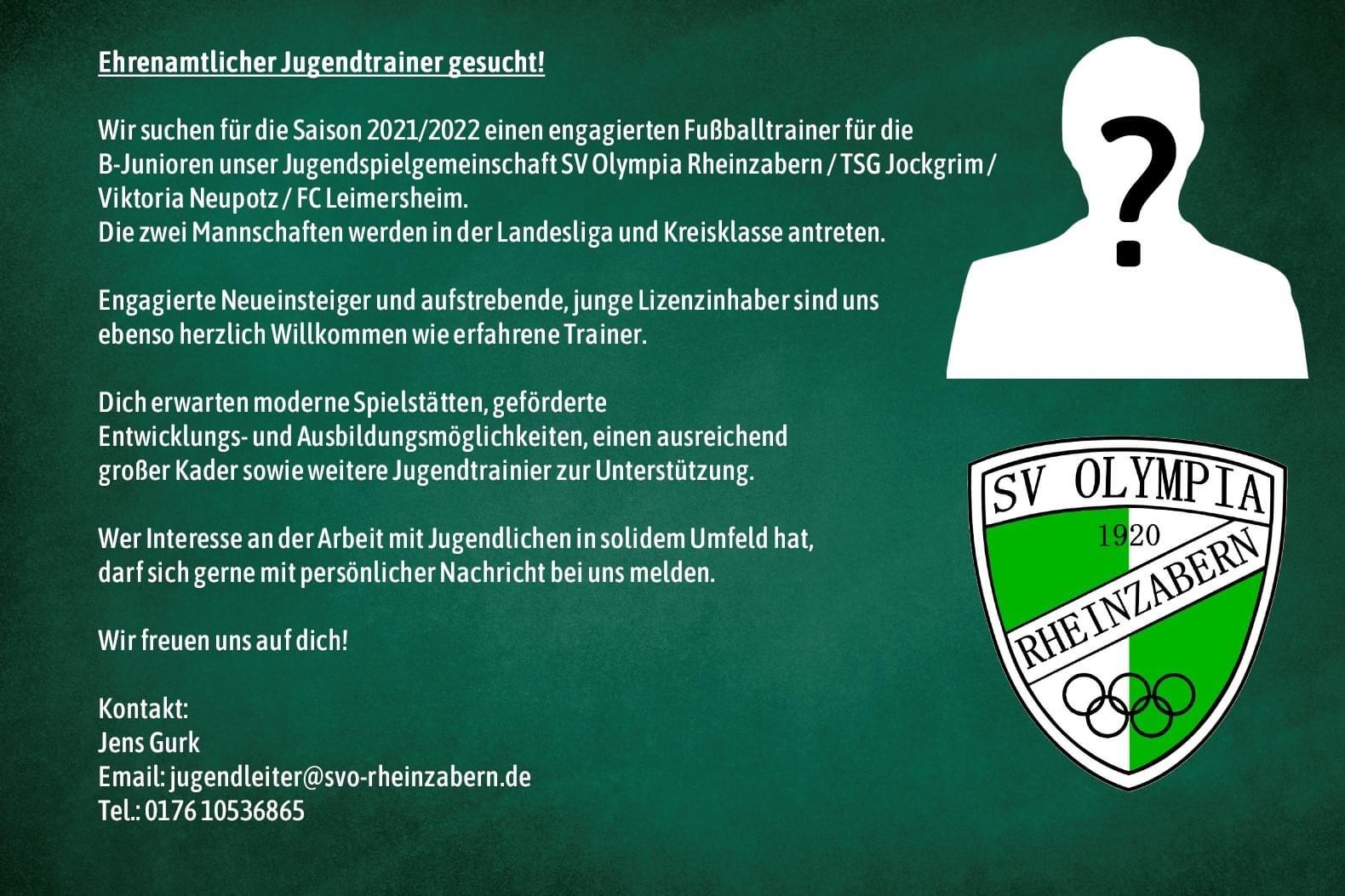 Neuer B-Jugendtrainer gesucht !